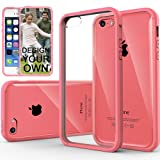 Caseology Apple iPhone 5C [Premium Fusion Series] – Slim Fit Hybrid Scratch-Resistant Clear back thin Cover with Shock Absorbent TPU Protector Bumper Case (Pink) [Made in Korea] (for Verizon, AT&T Sprint, T-mobile, Unlocked)