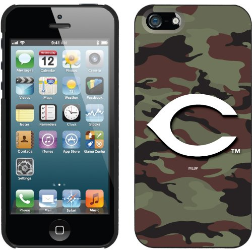 Best Price Cincinnati Reds - Traditional Camo design on a Black iPhone 5 Thinshield Snap-On Case by Coveroo