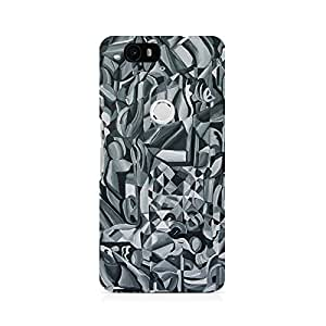 Motivatebox- Abstract Texture Premium Printed Case For Huawei Nexus 6P -Matte Polycarbonate 3D Hard case Mobile Cell Phone Protective BACK CASE COVER. Hard Shockproof Scratch-