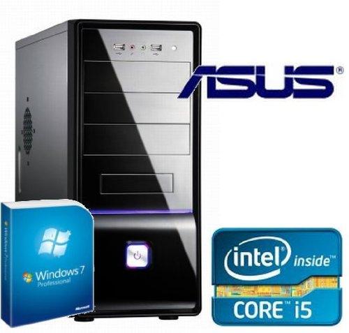Tronics24 Istarter2 PC Intel Core i5-3450 (Quadcore) Ivy Bridge 4 x 3.1 GHz, 8 GB DDR3, Asus, USB3.0, SATA3, 500 GB Sata3 , Intel HD2500, Microsoft Windows 7 Pro, DVD-Brenner, Sound, Cardreader, GigabitLan, Office PC