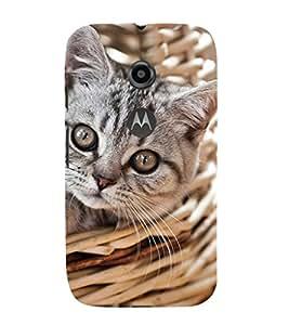 EPICCASE worderful kitty Mobile Back Case Cover For Moto E 2nd Generation (Designer Case)