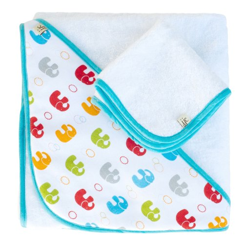 JJ Cole JTHPE Hooded Towel Primary, Elephants