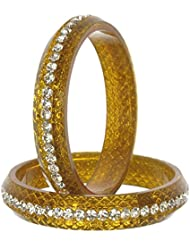 Nice Gold Bangle Set For Women (Pack Of 4) - Size 2.6