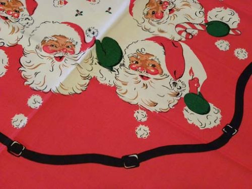 Vintage Retro Santa Christmas Tablecloth