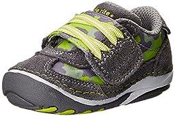 Stride Rite SRT SM Hammett Shoe (Infant/Toddler),Grey/Green,3 W US Infant