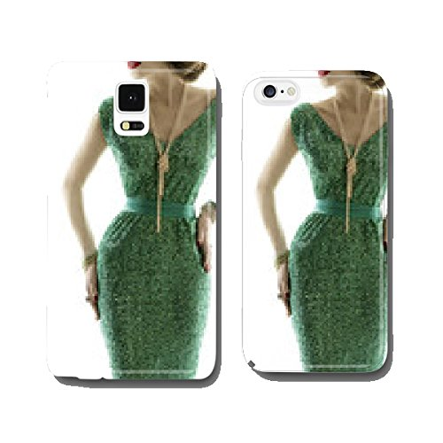 Woman retro fashion dress, sparkle sequin gown, elegant style cell phone cover case iPhone6