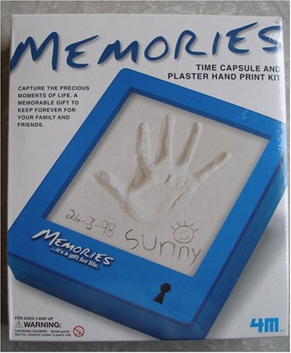 Memories Time Capsule and Plaster Hand Print Kit - 1