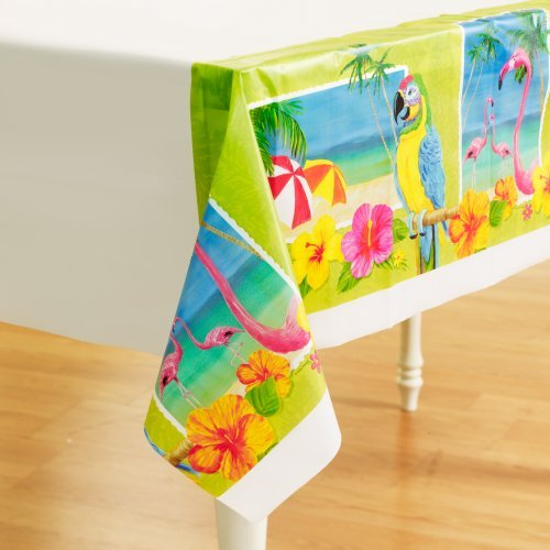 Tropical Vacation Plastic Tablecover