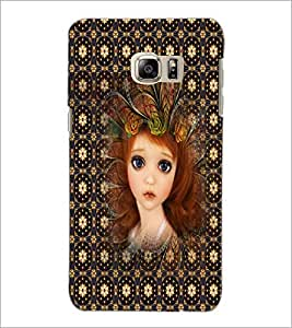 PrintDhaba Sweet Girl D-5049 Back Case Cover for SAMSUNG GALAXY NOTE 5 EDGE (Multi-Coloured)
