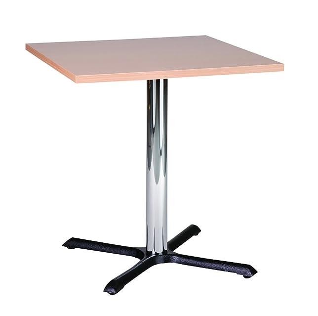 Roza faggio 70cm Square Compact piccola cucina tavolo da pranzo, base cromata
