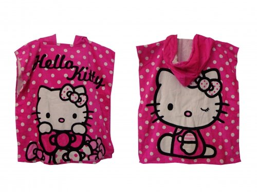 Character Hello Kitty Pink Hooded 100% Cotton Poncho
