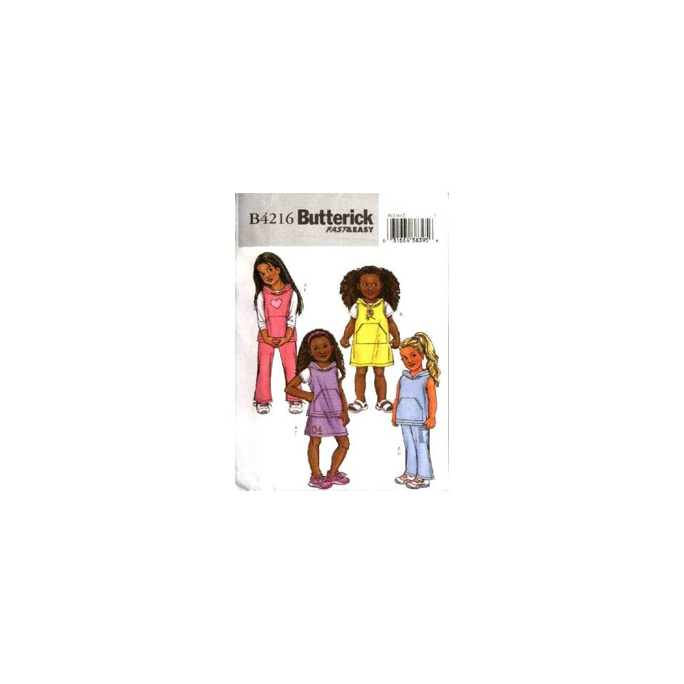 Butterick Sewing Pattern M4216 Girls Vest, Jumper, Skirt & Pants, (Sizes 2 3 4 5)