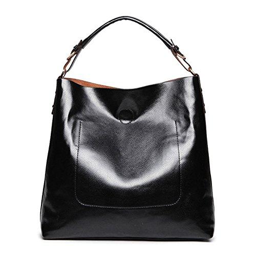 Designer borse e borsette realer Large Leather Tote Hobo Crossbody Borse per le donne in pelle nera
