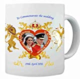 Prince William and Kate Middleton WEDDINGLICENSED Commemorative Coffee Mug Cup (New Design #3)-