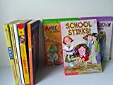 img - for Girls Series Mix: School Stinks; Amber Brown Goes Fourth; Amber Grown Is Green with Envy; the School Story; Russell & Elisa; Purple Sunglasses; My Dog Ate It; Piper Reed Navy Brat book / textbook / text book