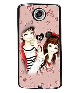 PrintVisa Metal Printed Love Designer Back Case Cover for Motorola Nexus 6/ Nexus X-D4862