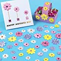 Self-Adhesive Satin Gem Flowers (Pack of 60)