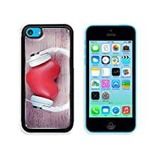 buy Msd Apple Iphone 5C Aluminum Plate Bumper Snap Case Headphones And Heart On Color Wooden Background 33305910