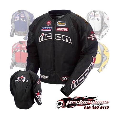 Amazon.com: Icon Merc Hero Leather Jacket - Medium/Black
