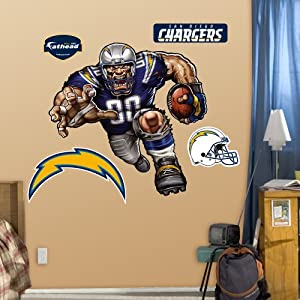 NFL San Diego Chargers Bolting Charger Wall Graphics by Fathead