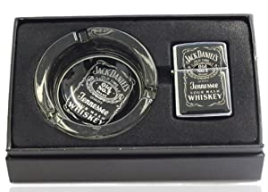 New Jack Daniels Ashtray with Petrol Lighter - Reproduction Gift Box