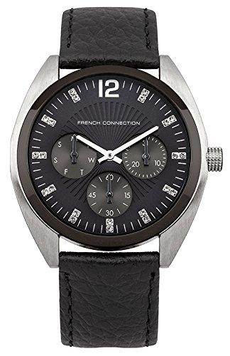 FRENCH CONNECTION FC1172U - Reloj de pulsera mujer, piel, color negro