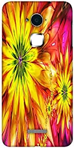 Snoogg bright fractal daisies 2597 Designer Protective Back Case Cover For Coolpad Note 3 (White, 16GB)