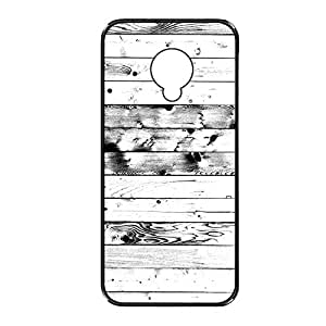 Vibhar printed case back cover for Samsung Galaxy S4 Mini BlckWhteWod