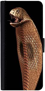 Snoogg Cobra Graphic Snap On Hard Back Leather + Pc Flip Cover Samsung Galaxy...
