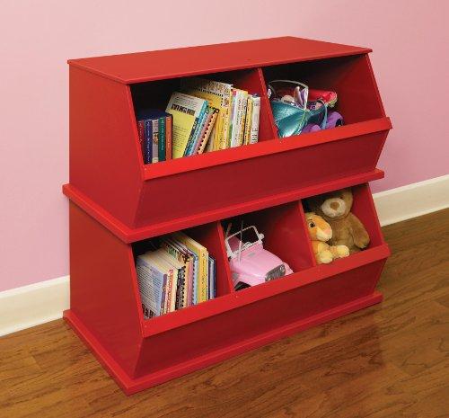 Imagen de Badger Basket Dos Storage Bin Cubby, Rojo