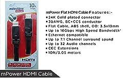 Milestone mPower HDMI Cable 10ft-Black