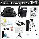 Essential Accessory Kit For Nikon COOLPIX P100 P500 P510 P520 P530 Digital Camera Includes Extended (1100Mah) Replacement Nikon EN-EL5 Battery + AC/DC Charger + Case + Mini HDMI Cable + Tripod + More