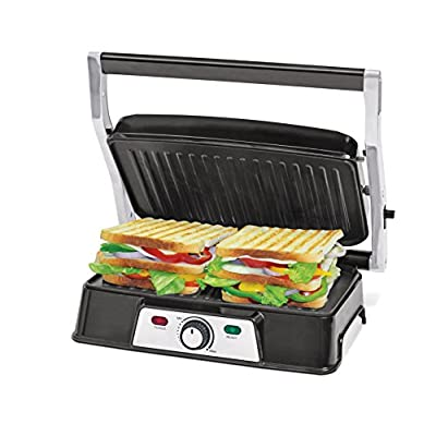 Oster CKSTPM129 1500- Watt Panini Maker with Grill (Black and Silver)