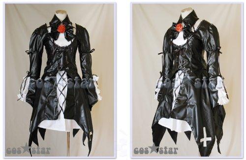 【コススター製】ローゼンメイデン 水銀燈風 レザーver.コスプレ 男女XS~XXXLサイズ 完全オーダメイドも対応可能