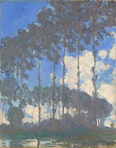 Oil Painting 'Poplars On The Epte,Sunny Day, 1891 By Claude Monet' Printing On High Quality Polyster Canvas , 8x10 Inch / 20x26 Cm ,the Best Bedroom Decoration And Home Gallery Art And Gifts Is This Best Price Art Decorative Canvas Prints