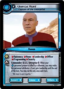 Star Trek Ccg 2e Dangerous Missions Foil Jean-luc Picard Captain Of The Enterprise 9r12