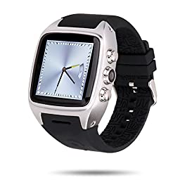 Ourtime X01 1.54-Inch Standalone Waterproof Android Smart Watch with GSM 3G WCDMA 2.0MP Camera - Silver