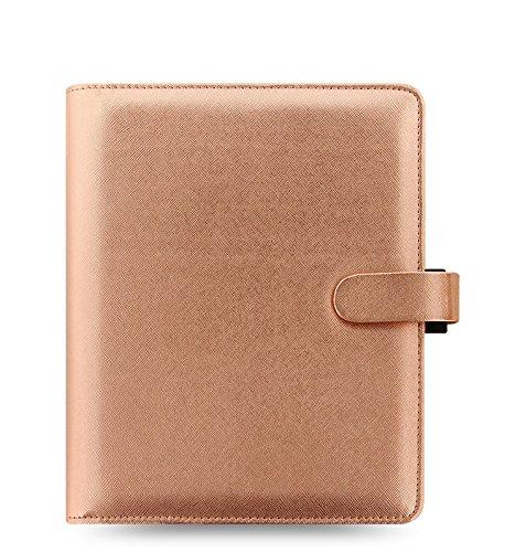 Filofax Saffiano A5 Size PU-Leather Organizer Agenda Calendar with DiLoro Jot Pad Refills (A5, Rose Gold 2017, 022572) (Personal Organizer A5 compare prices)