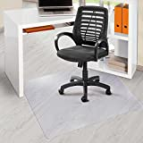 "Office Marshal® PVC Office Chair Mat for Hard Floors (30"" x 48"") | Clear Vinyl, Rectangular, Floor Protection"