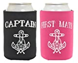 Black Captain and Magenta First Mate 2 Pack Can Coolies