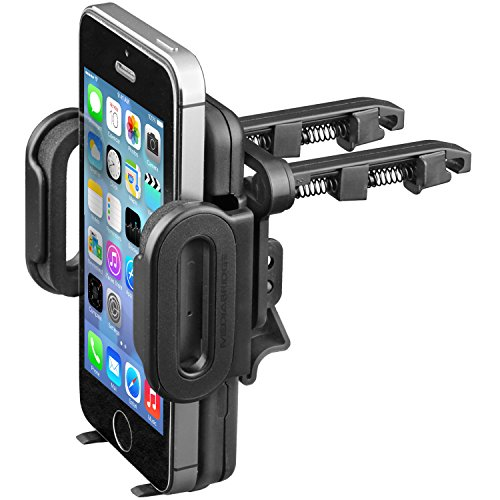 "Mediabridge Smartphone Cradle With Air Vent Mount - Car Air Vent Mount For Iphone 6/6 Plus/5S/5C/5/4S, Samsung Galaxy S5/S4/S3/Note Ii/Note 3/ Note 4, Htc One, Motorola Razr Maxx Hd (Fits Smartphone Widths Of 2""-4"")"