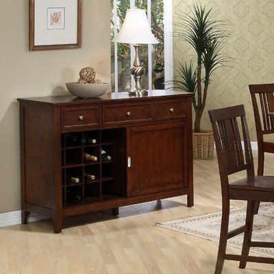 Cheap Napa Server / Console Table in Dark Cherry (ZD-N5003)