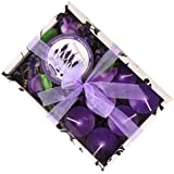 New Arrival - Gift Set Of 6 Sweet Scented Candles With Holder (Lavander Fragrance)