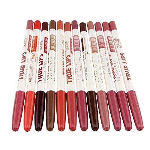 Contever® Lipliner - 12Pcs Matita Labbra contorno labbra Color for Partito Regalo Trucco