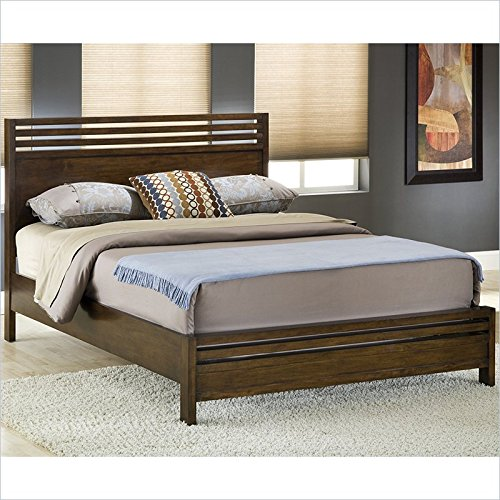 Modus Furniture 6M35F7 Uptown Platform Bed, King, Mahogany