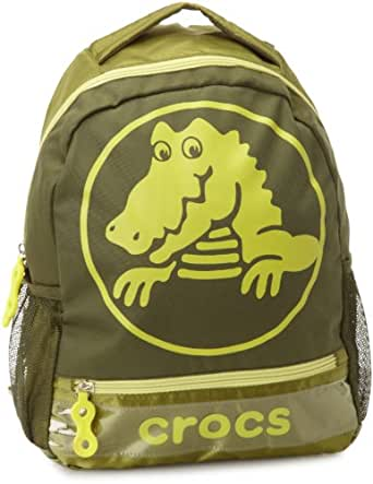 Crocs Little Girls'  Duke Backpack, Army/Citrus, One Size