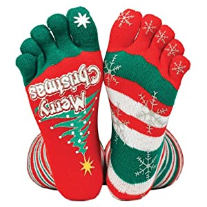 Tobar Christmas Stripey Toe Socks