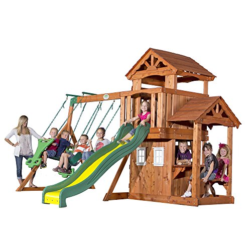 backyard discovery tanglewood all cedar wood playset swing set toys