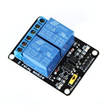 Docooler 5V Active Low 2 Channel Relay Module Board for Arduino PIC AVR MCU DSP ARM