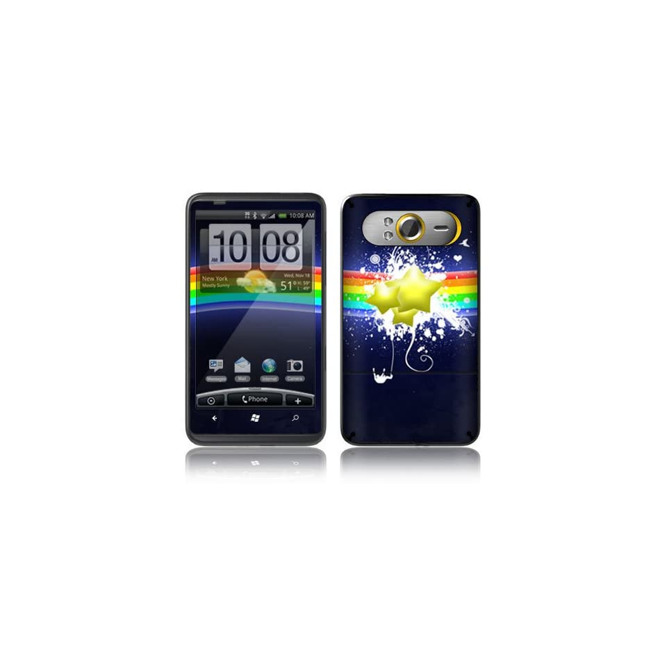 Rainbow Stars Decorative Skin Cover Decal Sticker for HTC HD7 Cell Phone